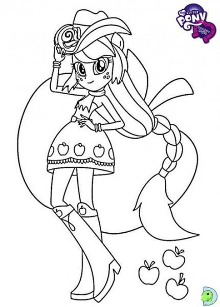 My Little Pony Equestria Girls Para Colorir (applejack)