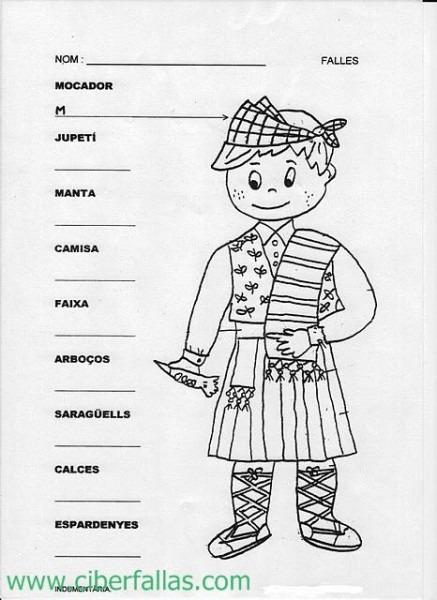 Colorea Fallas, Falleros, Falleras, Para Colorear, Pintar (2)