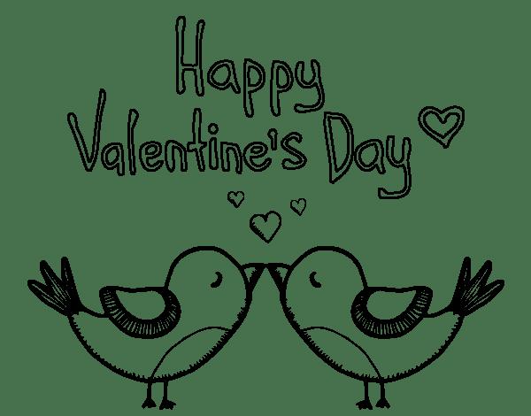 Dibujo De El Día De San Valentín Para Colorear