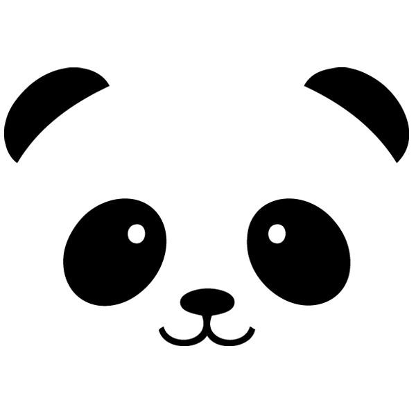 √ Cara Oso Panda Pegatinas Pared