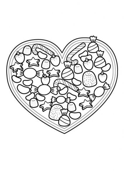 Corazón Para El Día De La Madre  Dibujo Para Colorear E Imprimir