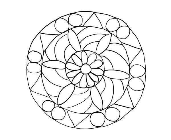 Mandala De Flores  Dibujo Para Colorear E Imprimir