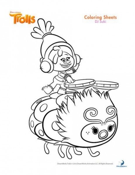 Dreamworks Trolls Coloring Book Printables