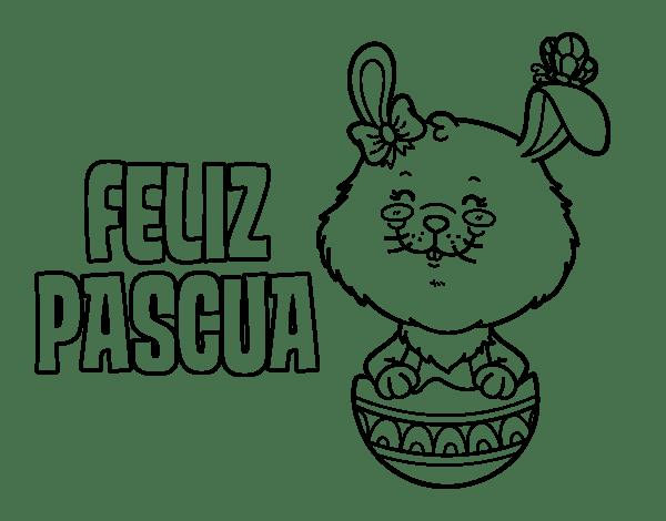 Dibujo De Te Deseo Una Feliz Pascua Para Colorear