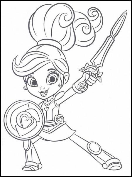 Dibujos Para Colorear Para Niños Nella, Una Princesa Valiente 11