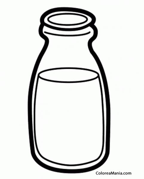 Colorear Botella De Leche (bebidas), Dibujo Para Colorear Gratis