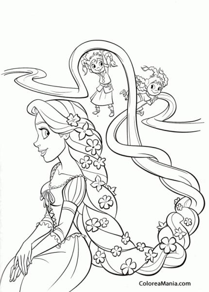 Colorear Rapunzel De Pequeña 2 (enredados