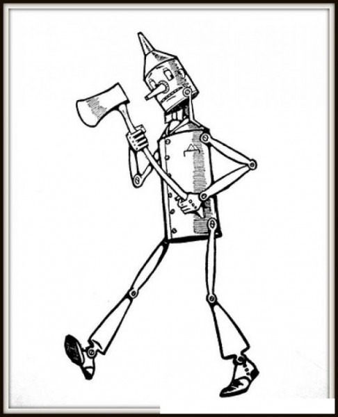 Dibujo Del Hombre De Hojalata Del Mago De Oz Para Pintar Y