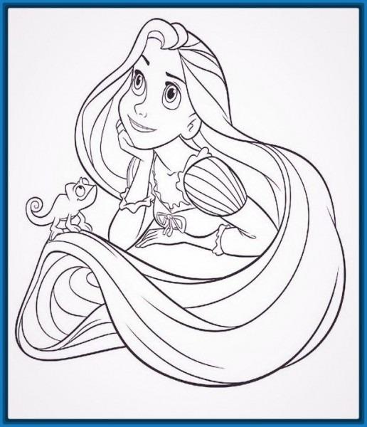 √ Imagenes De Princesas Para Colorear De Rapunzel