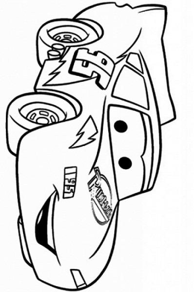 Dibujos De Rayo Mcqueen Feliz Para Colorear, Pintar E Imprimir