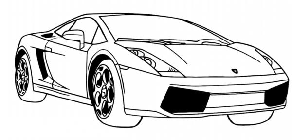 Dibujos De Lamborghini Gallardo Para Colorear, Pintar E Imprimir
