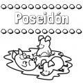 Poseidon Dibujo Para Colorear