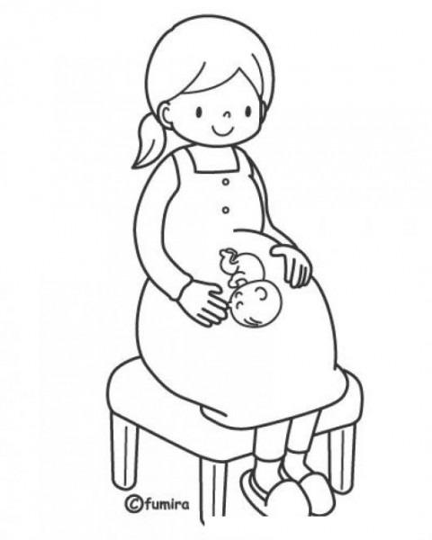 Dibujos De Embarazadas Para Colorear