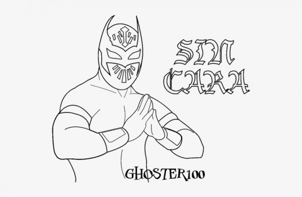 Wwe Sin Cara And Rey Mysterio Coloring Pages Printable