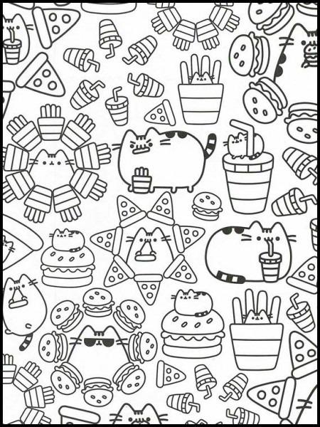 Pusheen Dibujos Para Colorear Para Niños 17