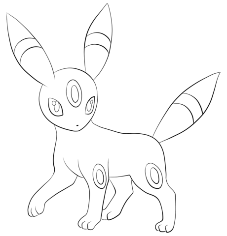 Umbreon Coloring Page