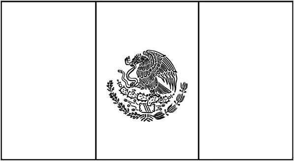 Paginas Para Colorear Bandera De Mexico