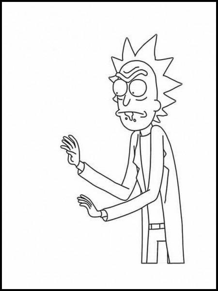 Dibujos Para Colorear Para Niños Rick Y Morty 1