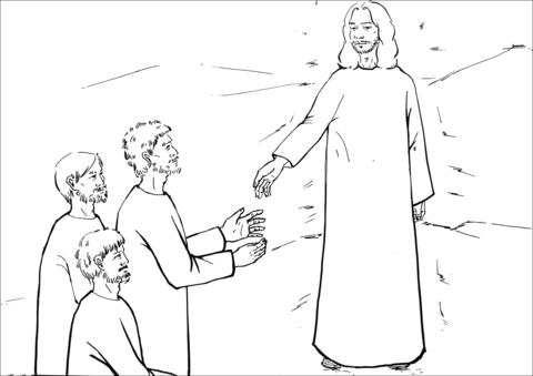 Dibujo De La Cara De Jesús Brillaba Como El Sol Y Su Ropa Se