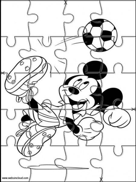 Puzzles Rompecabezas Recortables Para Imprimir Para Niños Mickey