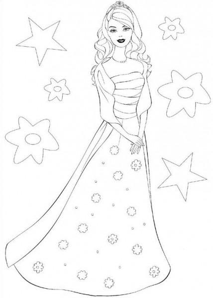 Dibujos De Princesa Para Colorear E Imprimir Barbie