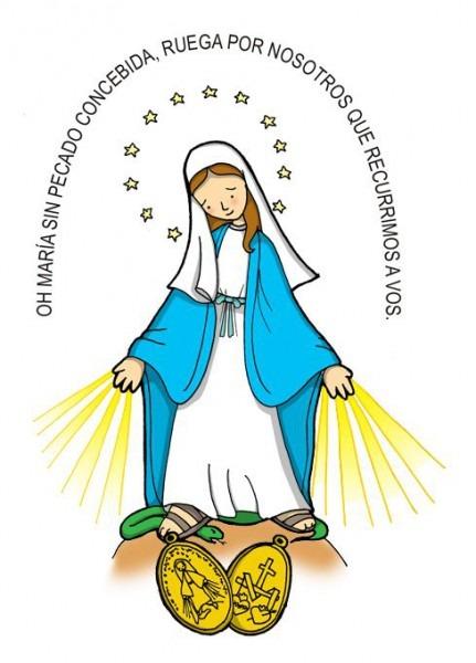 Dibujos Para Catequesis  Nuestra SeÑora De La Medalla Milagrosa