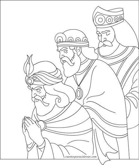 Dibujos De Los Reyes Magos De Navidad Para Colorear Online