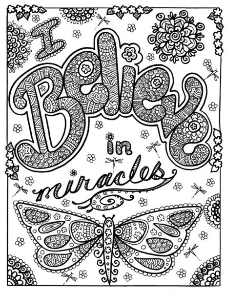 Instant Download Believe In Miracles Coloring Page You Be The