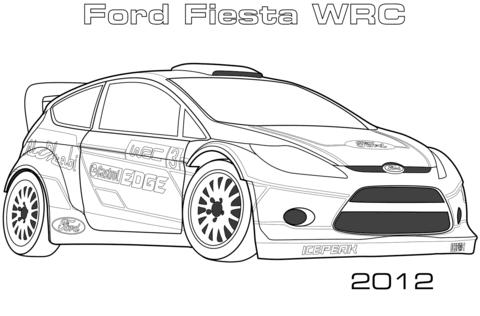 Dibujo De Ford Fiesta Wrc De 2012 Para Colorear