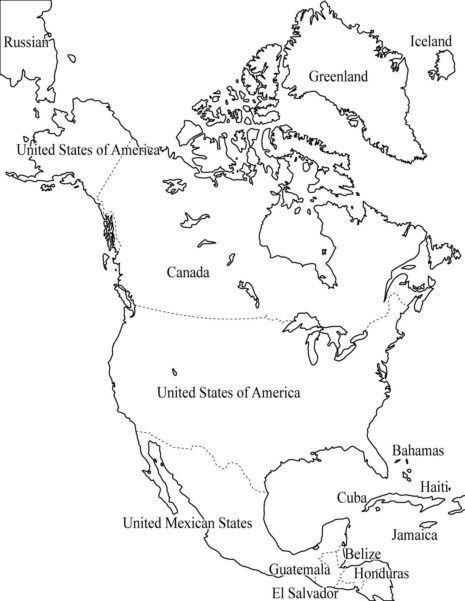 Información E Imágenes Con Mapas De América Político Y Físico En