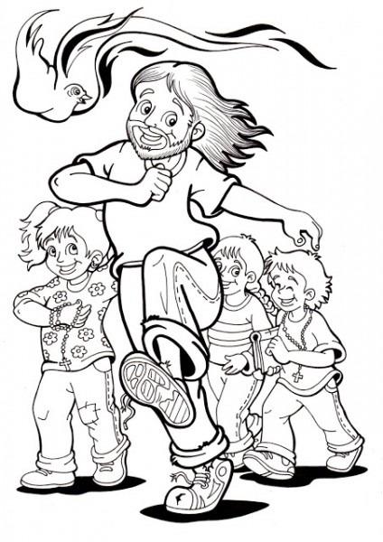La Catequesis (el Blog De Sandra)  Dibujos Para Colorear Jesús Con
