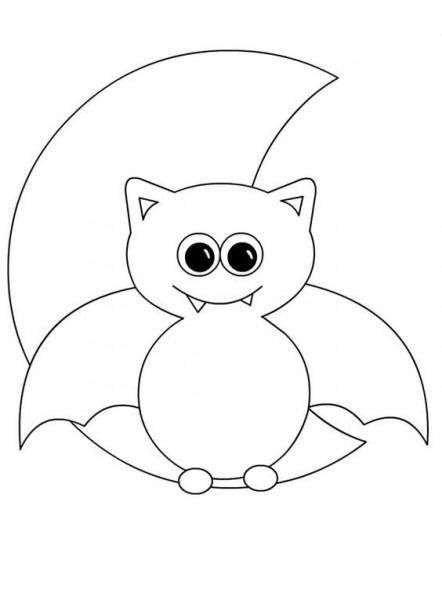 25 Desenhos, Moldes E Riscos De Morcegos De Halloween Para Colorir