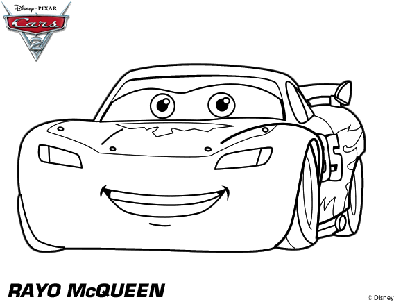 Download Hd About Cars 2 Coloring Pages Lightning Mcqueen 555 Png