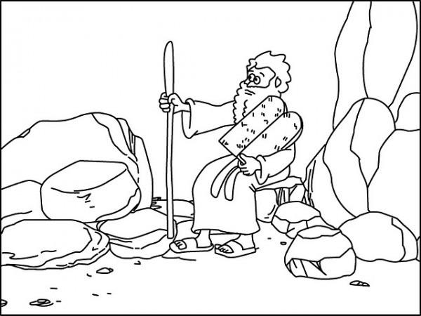 Los Niños Y La Biblia  Secuencia Historia De Moisés Para Colorear