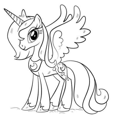 Princesa Luna Dibujo Para Colorear