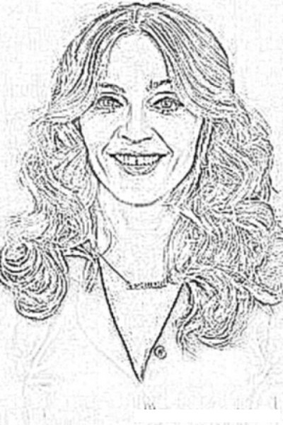 Madonna Coloring Page