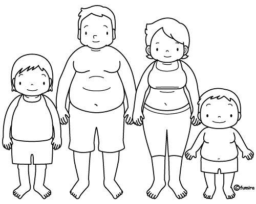 Dibujo De Niños Con Ropa Interior Sin Pintar
