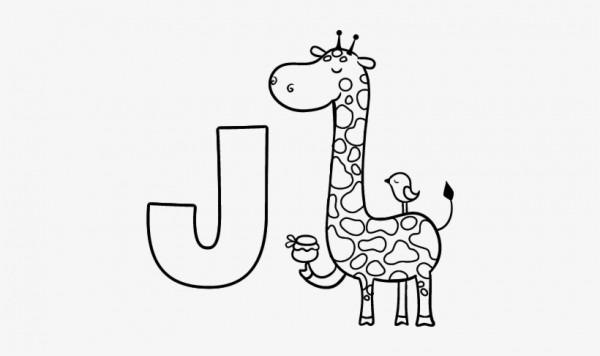 Dibujo Del Abecedario Letra J Para Colorear Tumblr