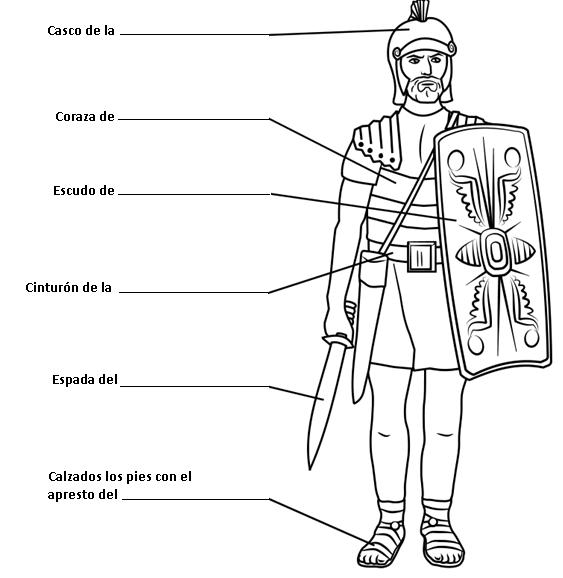 Dibujos Cristianos Para Colorear  Dibujo De Soldado Romano Para