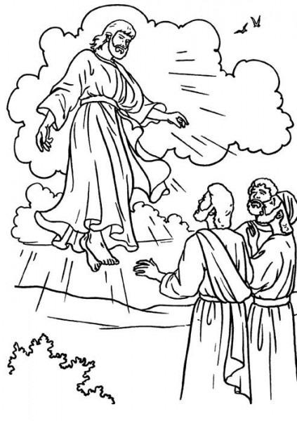 Dibujo De Jesus Resucitado Para Colorear
