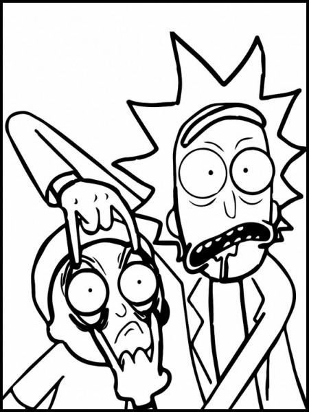 Dibujos Para Imprimir Rick Y Morty 3