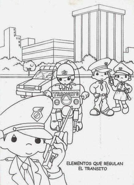 Seguridad Vial Para Niños Dibujos Para Colorear