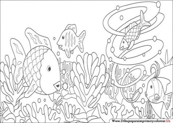 Dibujos De El Pez Arcoiris Para Imprimir Y Colorear