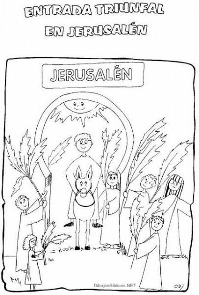 Entrada De Jesús A Jerusalen