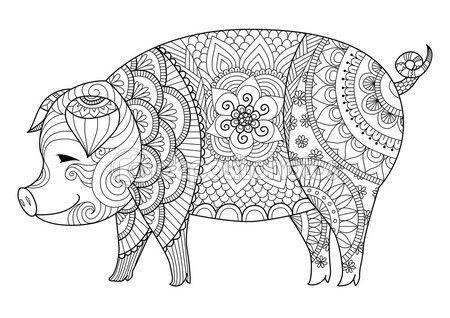 Mandalas De Animales Para Niños, Fáciles , Para Imprimir Y