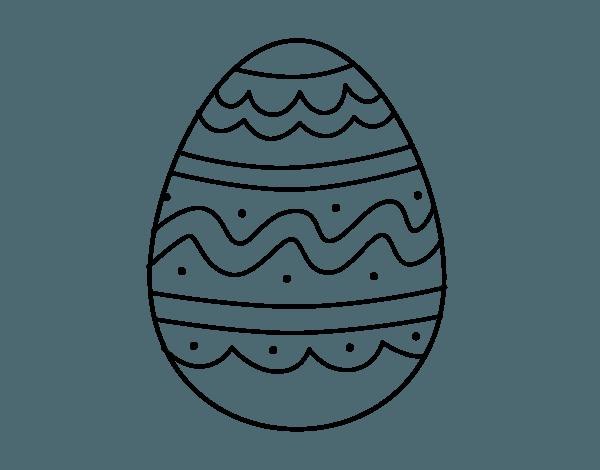 Dibujo De Huevo Del Día De Pascua Para Colorear