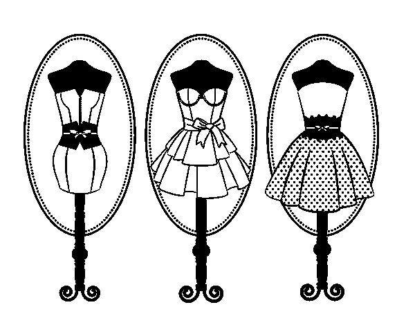 Dibujos De Vestidos De Moda Para Colorear