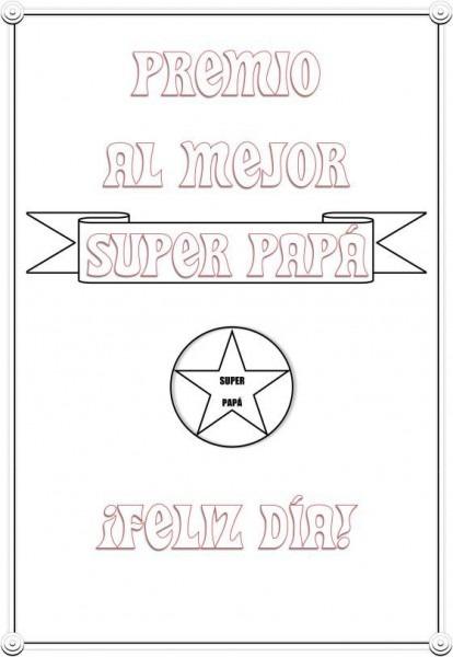 Tarjetas Del Día Del Padre Para Imprimir Y Colorear