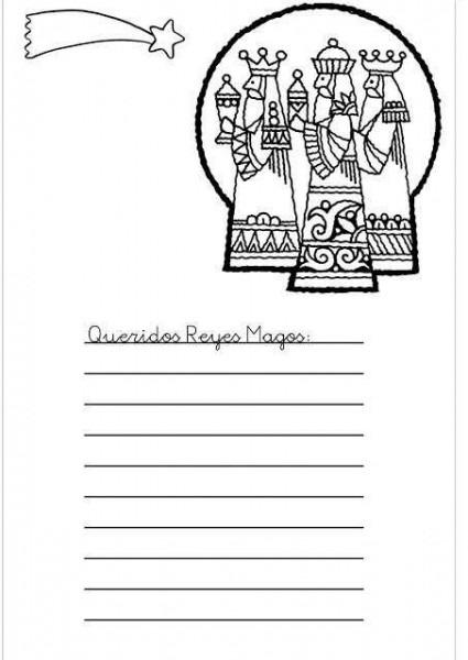 Carta A Los Reyes Magos  Fotos De Modelos Para Imprimir Y Colorear