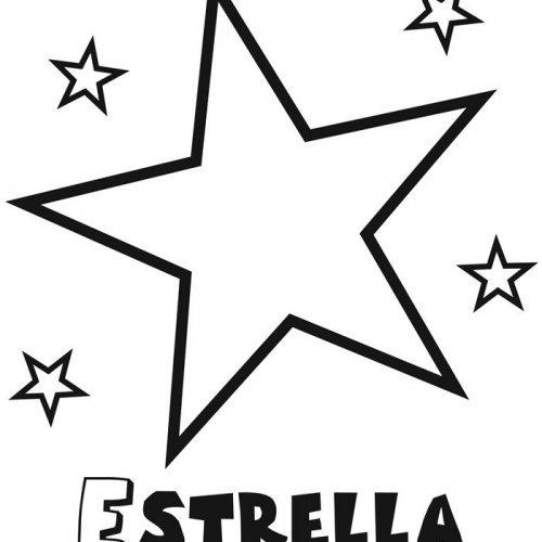 Dibujo Infantil De Estrella Con Estrellitas  Dibujos Para Colorear